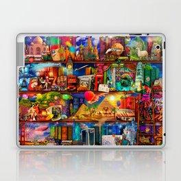 World Traveler Book Shelf Laptop & iPad Skin