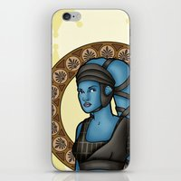 jedi iPhone & iPod Skins featuring Aayla jedi by Miguel Angel Carroza