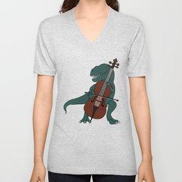 T-Rex Double Bass Unisex V-Neck