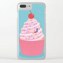 Cupcake slide Clear iPhone Case