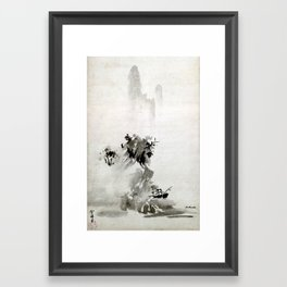 Sesshu Toyo Haboku-Sansui Landscape Framed Art Print