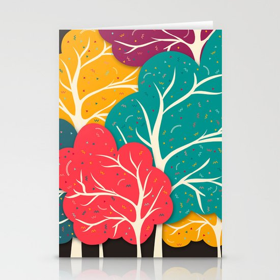 Happy Forest Stationery Cards