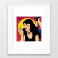 sexy Framed Art Prints featuring sexy  by mark ashkenazi