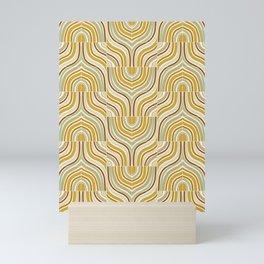 Ochre Marbled Tiles Mini Art Print