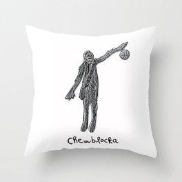 Chewblocka! Throw Pillow