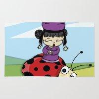 ladybug Area & Throw Rugs featuring Ladybug by flydesign