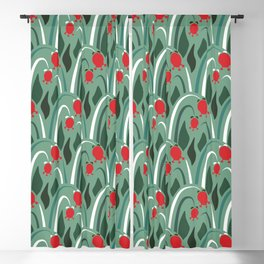 a lot of flowers for art deco mint Blackout Curtain