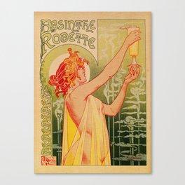 Classic French art nouveau Absinthe Robette Canvas Print