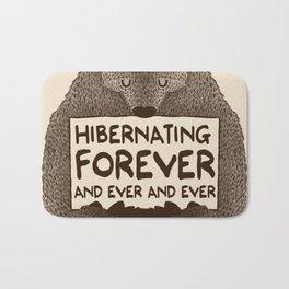 Hibernating Forever Bath Mat