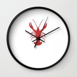 Crawfish I'm Just Here For the Crawfish Lover Boil Louisianna Cajun Food Mudbug Crawdaddy Wall Clock