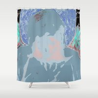 halo Shower Curtains featuring Halo by Mylittleradical