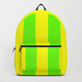 Bright Neon Green and Yellow Vertical Cabana Tent Stripes Backpack