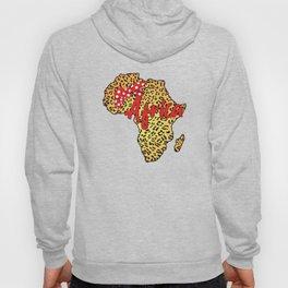 Africa Leopard Map Hoody