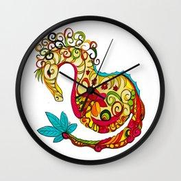 Candy Sea Horse Wall Clock
