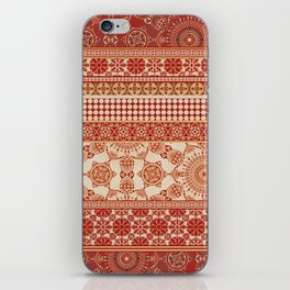 Ornate Moroccan in Red iPhone Skin