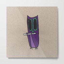 Violet, Owl Flutist Metal Print