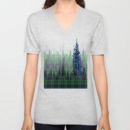 Plaid Forest Unisex V-Neck