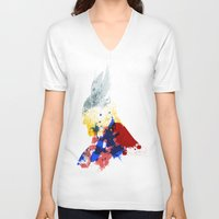 nordic V-neck T-shirts featuring Nordic Star by Arian Noveir
