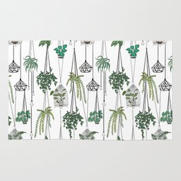 hanging pots pattern Rug
