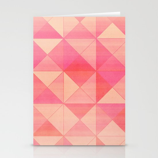Pink : Pattern Stationery Cards