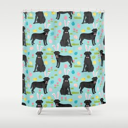 Black Lab labrador retriever dog breed pet art easter pattern costume spring Shower Curtain