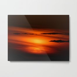 Sunset Through the Clouds Metal Print
