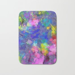 Abstract Art by Tito. Splatter Bath Mat