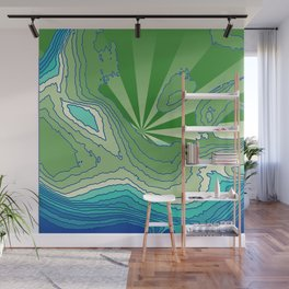Satisfaction,green Wall Mural