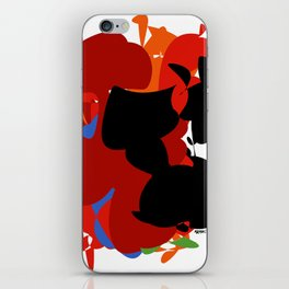 Red Black Forest Colorful Abstraction Digital Art - RegiaArt iPhone Skin