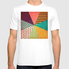 Umbrella MEDIUM White Mens Fitted Tee