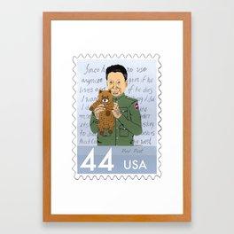 Dictators w/Pets: Pol Pot Framed Art Print