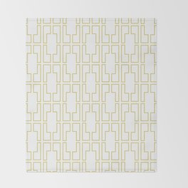 Simply Mid-Century in Mod Yellow Throw Blanket