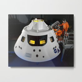 328. Stepping into the Orion Crew Module Metal Print