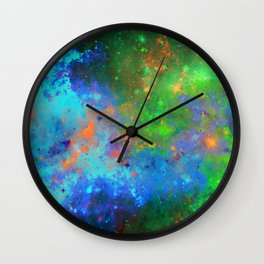 Speed Of Light - Abstract space painting Wall Clock