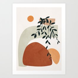 Soft Shapes I Art Print