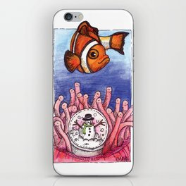 Christmas Clownfish iPhone Skin