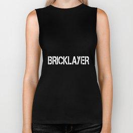 BRICKLAYER CAUTION  strong mens team work hip hop Biker Tank