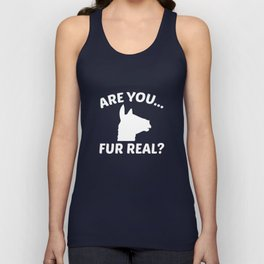 Are You Fur Real? Unisex Tank Top