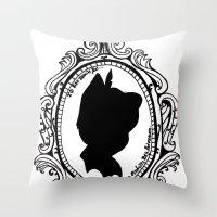 peter pan Throw Pillows featuring Peter Pan  by Lydia Dick