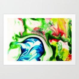 My Head - Milk & Food Coloring Painting Art Print
