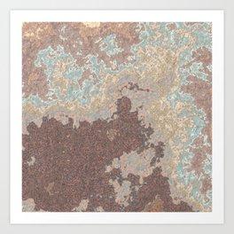 Stone Slab Art Print