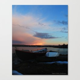 Evening At The Shore Canvas Print