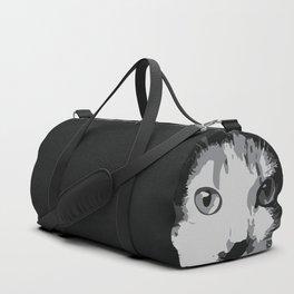 A Feline Mastermind Duffle Bag
