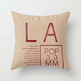 The City of Angels Throw Pillow