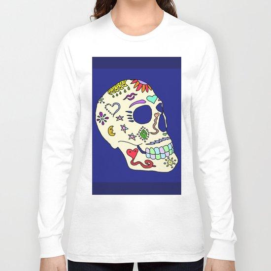 Sugar Skull Side Long Sleeve T-shirt