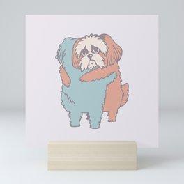 Shih Tzu Hugs Mini Art Print