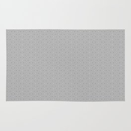 Grey and White small flower pattern Rug