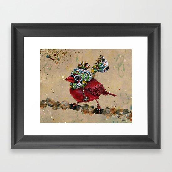Cardinal Blaze 2 Framed Art Print