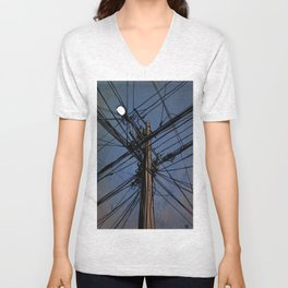 wires 02 Unisex V-Neck