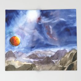 Unknown planet Throw Blanket